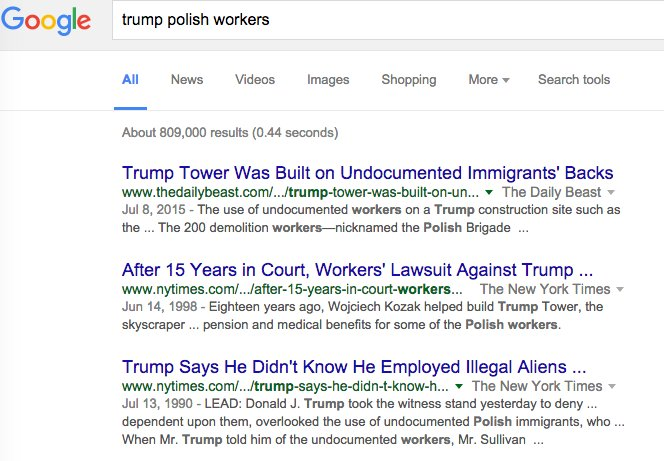 """Rubio is right -- google """"Trump Polish workers"""" and here's what you get https://t.co/RBmKHQUL6G"""