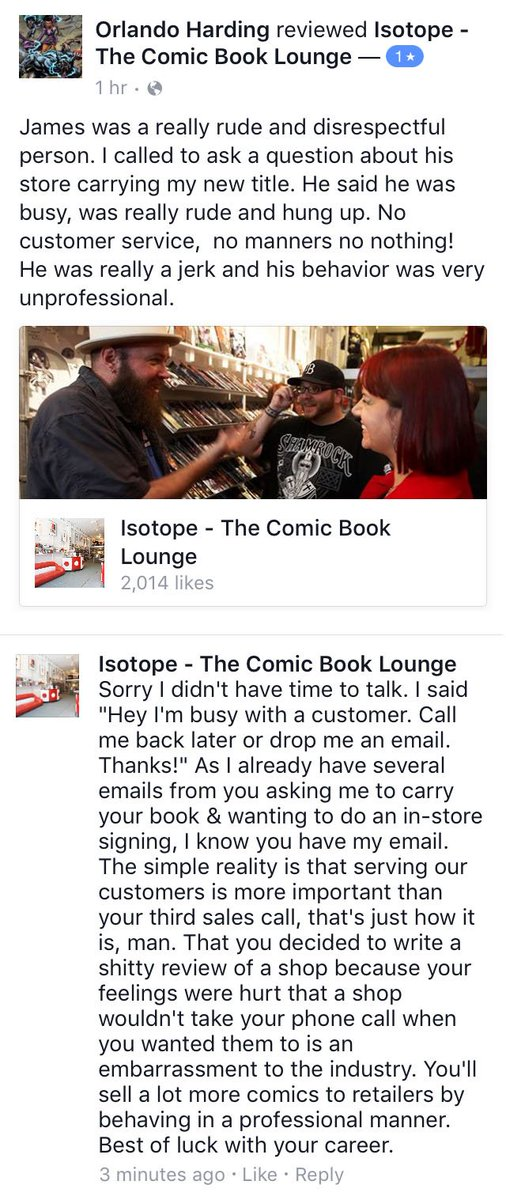 How to NOT sell your comic to retailers c/o @1stcomics. https://t.co/8UsNw7RLQH