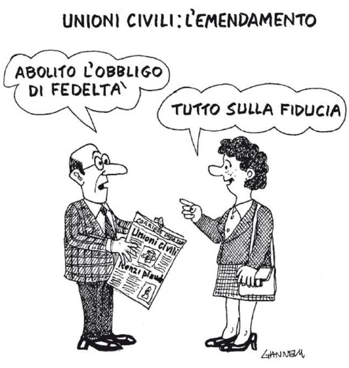 DDL Cantini su fedeltà coniugale: Via l'obbligo reciproco di fedeltà tra i coniugi previsto dal matrimonio civile