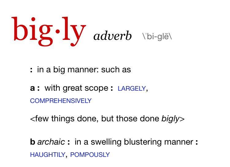 Bigly bigly