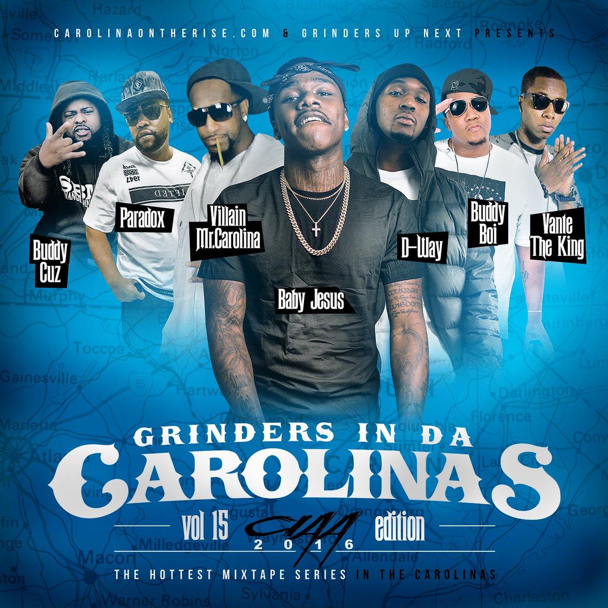 Grinders In Da Carolinas Vol. 15: #CIAA Edition will be dropping Saturday, Feb. 27th on Spinrilla. #CIAA2016 https://t.co/Ouvaec619Q