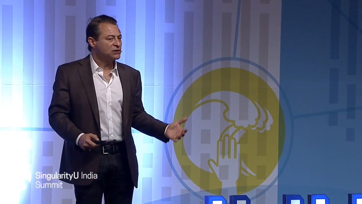 """Goodbye liner thinking, hello abundance!"" @PeterDiamandis has the audience gripped at #SUIndiaSummit https://t.co/ItdFKRy9uD"