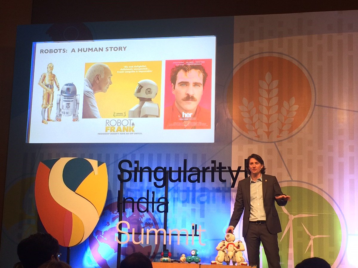 @RobNail talks about the Rise of #Robots @SUIndiaSummit brought to India by @Deloitte & @inktalks #SUIndiaSummit https://t.co/ovrEVSft8o