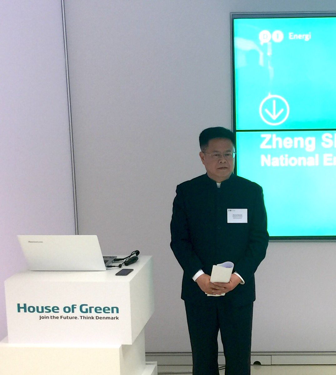 NEA vice minister Zheng Shanjie discuss power plant flexibility in House of Green in Copenhagen with Danish experts