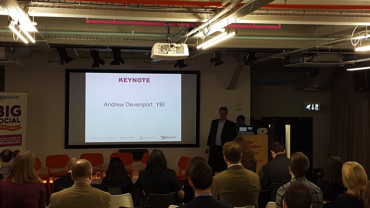 @AndrewDevenport from @YouthBizInt is kickstarting today's sessions here #BigSocial2016 talking about YBI's network https://t.co/BOzx3q9jXy