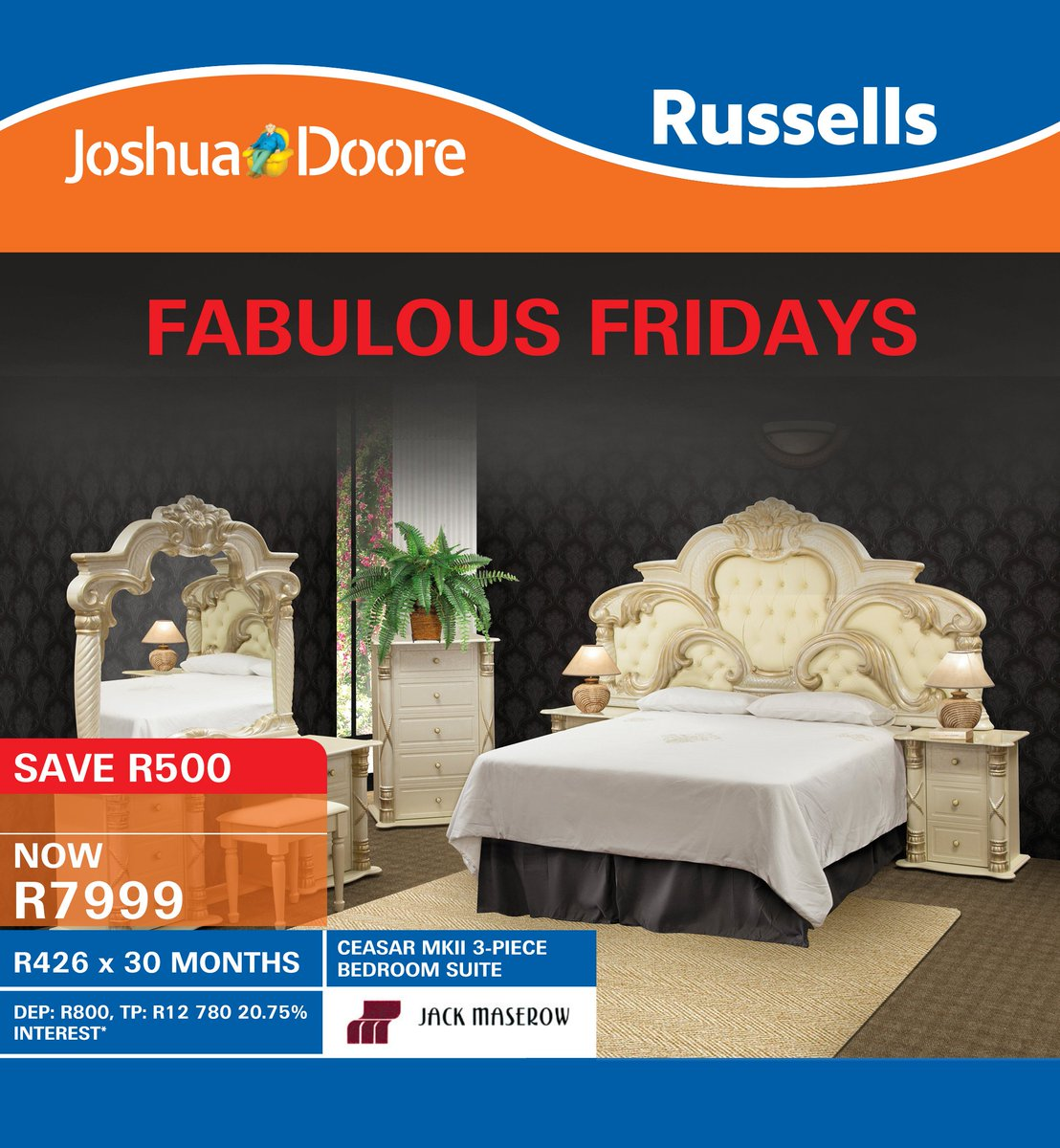 Joshua Doore on Twitter  Our Fabulous CAESAR 3-PIECE BEDROOM SUITE only at Joshua Doore u0026 Russells! More deals here //t.co/gDW3M0ufPS ...  sc 1 st  Twitter & Joshua Doore on Twitter: