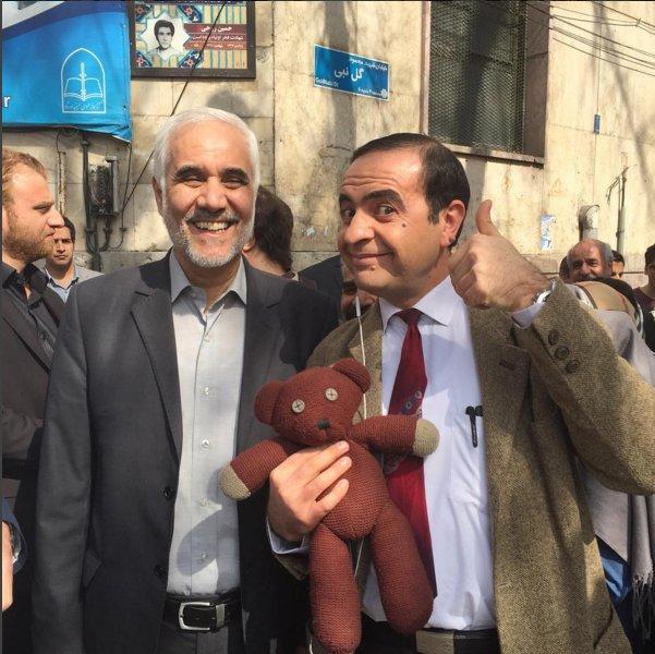 Iranian Mr. Bean Farid Ketabchi voting. #IranElections2016 Source: Ketabchi's Instagram page https://t.co/SIuQzHUnKn https://t.co/8Q0TdJrPo6
