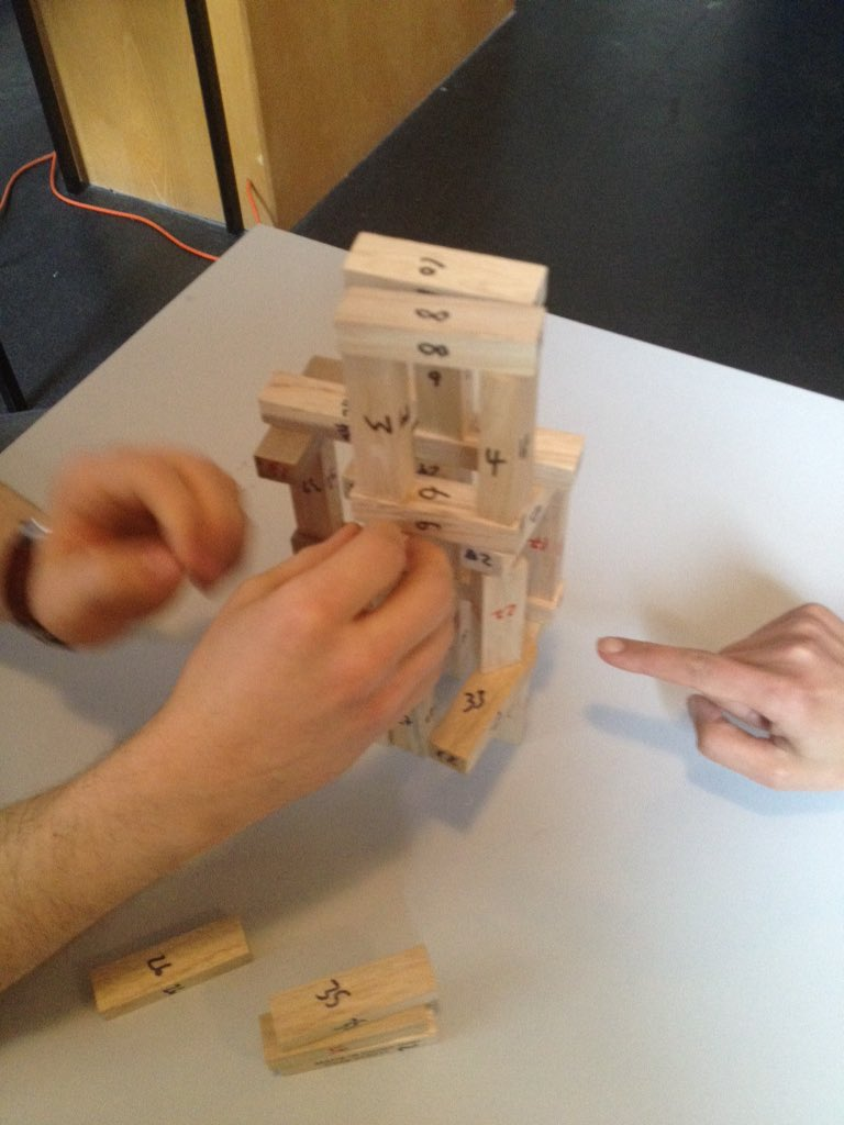 Playing agile testing with jenga