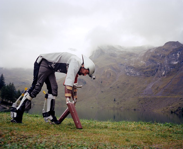 This man attempts to cross the Alps as a goat, wearing prosthetic hooves https://t.co/9qdMI06wNG https://t.co/aknvSXr2XX