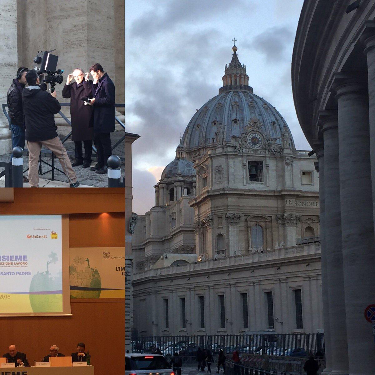 Pronti per domani. Confindustria incontra il Papa per la prima volta nella sua storia #GiubileoIndustria https://t.co/yYSs1tJ57o