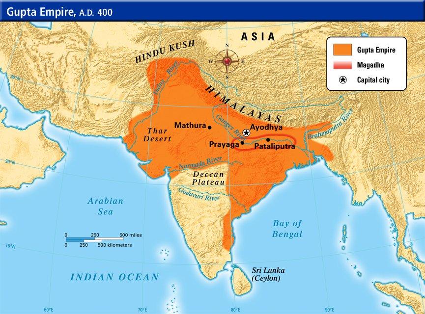 Gupta Empire Map Sandeep Gupta on Twitter: