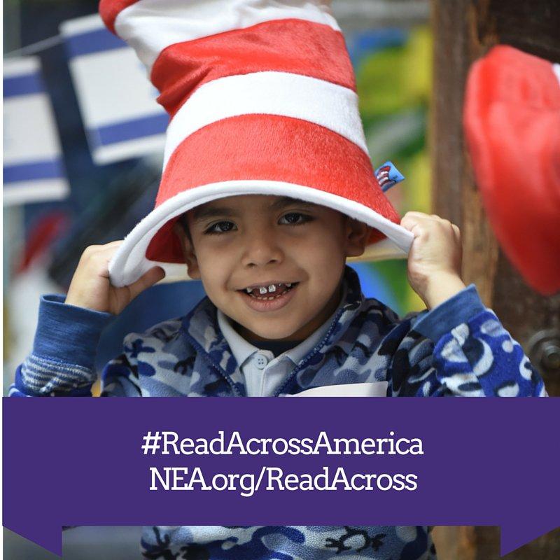 So excited to kick off #ReadAcrossAmerica! In Dallas w @Lily_NEA @NoelCandelaria @txstateteachers @dallasschools https://t.co/vUuOtRIzxU