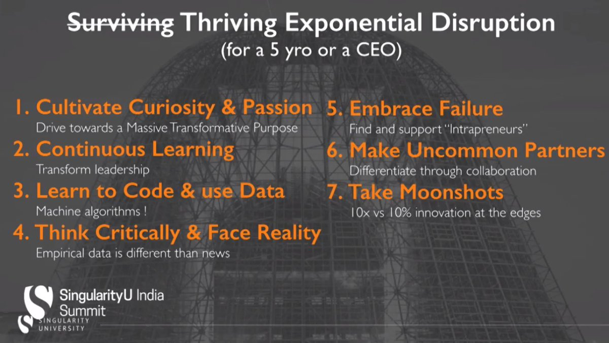 Forget simply surviving, here's how you thrive #ExponentialDisruption @RobNail #SUIndiaSummit https://t.co/FOE5ErgDpb