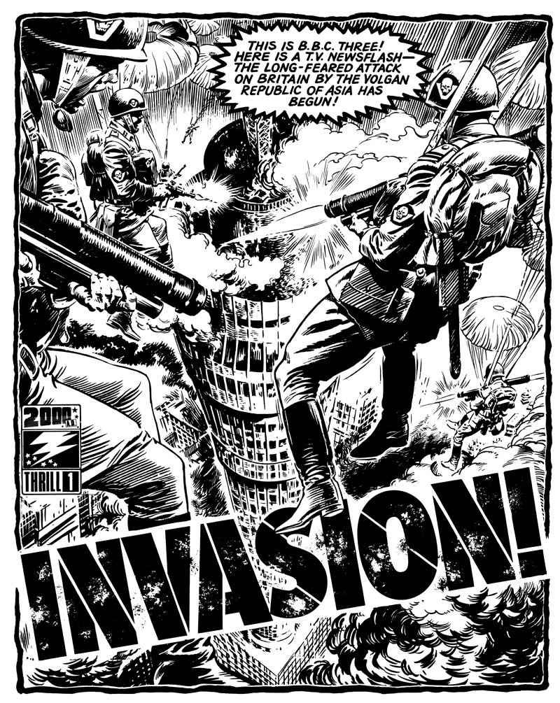 Image result for 2000ad issue 1 invasion