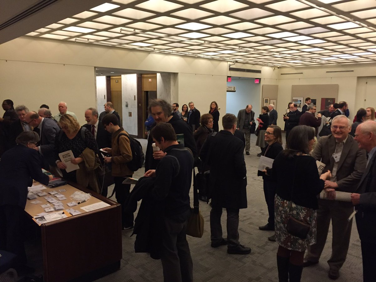 Attendees gathering for #RPTF 'Save America's Radio Heritage' conference at LOC https://t.co/AINOjdJGuH