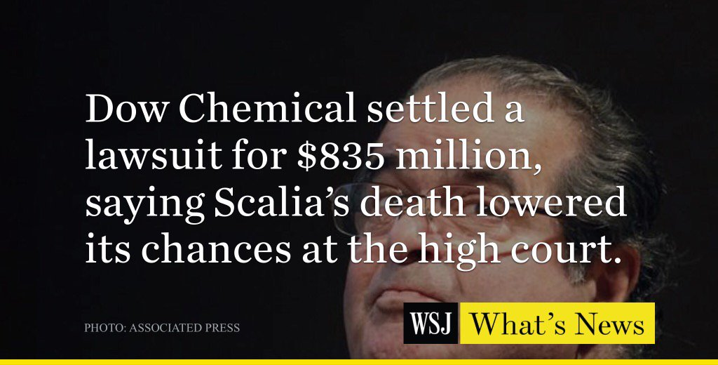 Scalia's death already having an effect on the outcome of cases.  https://t.co/C47jVdurBf https://t.co/UtSmmkpz6v