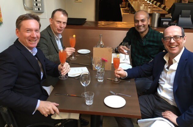The Survivors Lunch today: all 4 of us broadcasters have survived catastrophic illness or injury: https://t.co/7ajd7awUS7