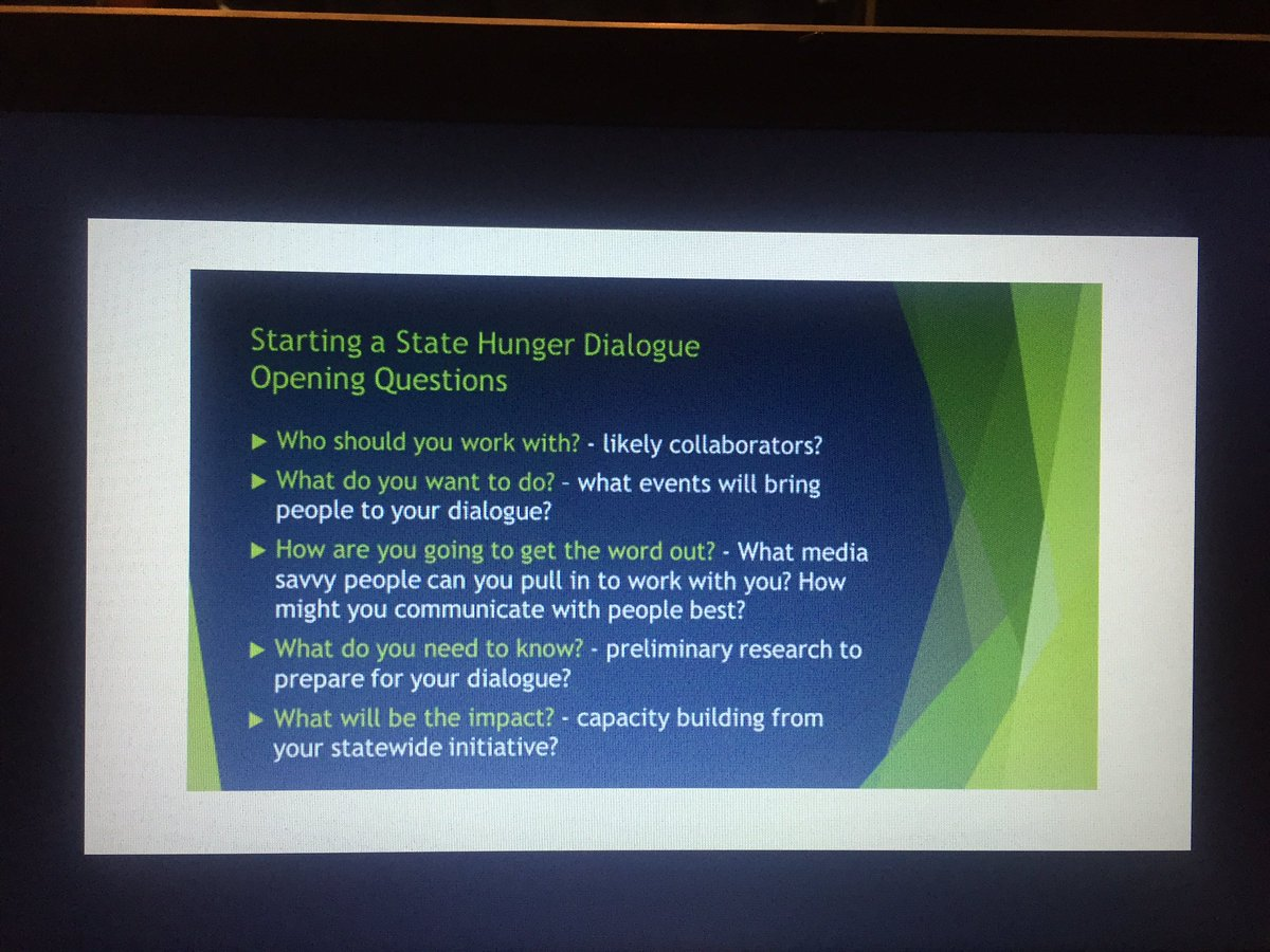 """So, you want to start a Statewide Hunger Dialogue?... Opening Questions #UFWH2016 @WSUHunger  #WSUHunger https://t.co/NovzcqqIN2"