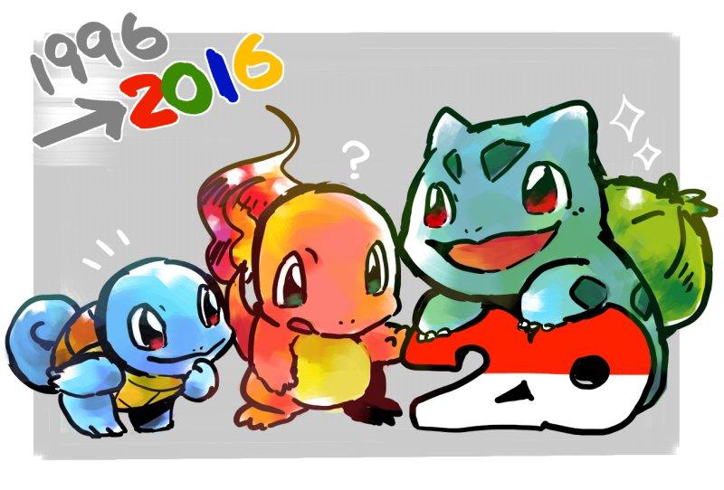 初代御三家をやっぱり描きたかった!これからも末永くよろしくお願いします!! #Pokemon20 #ポケモン20周年 https://t.co/ObjR38vFts