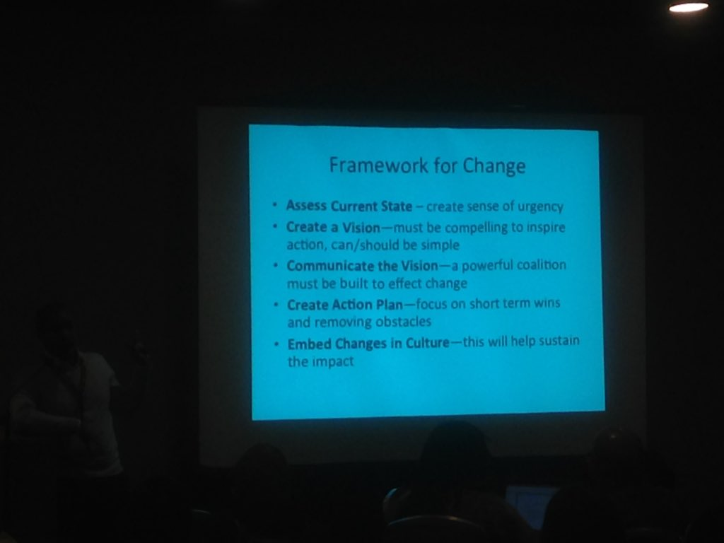 Penn: framework for change. Start w/thoughtful assessment of what's  happening in your context #interventions16 https://t.co/Z0XQ1mulq6