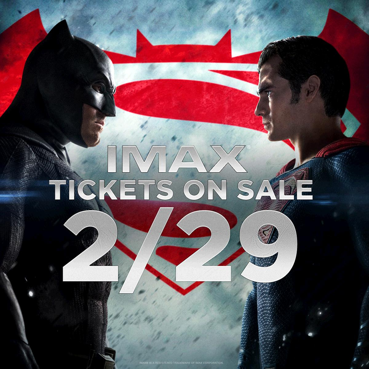über Imax Cineplexx At: You Can See #batmanvsuperman In #imax, And Tickets Go On