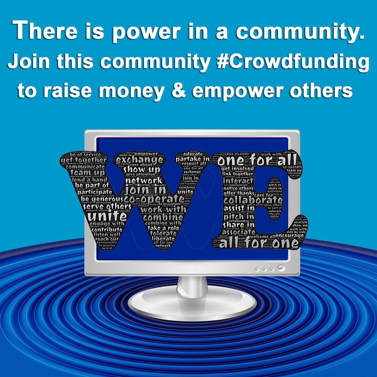 There is power in a community #CrowdFunding    https://t.co/HAUwwlWqJr https://t.co/jOBG22Fpwz