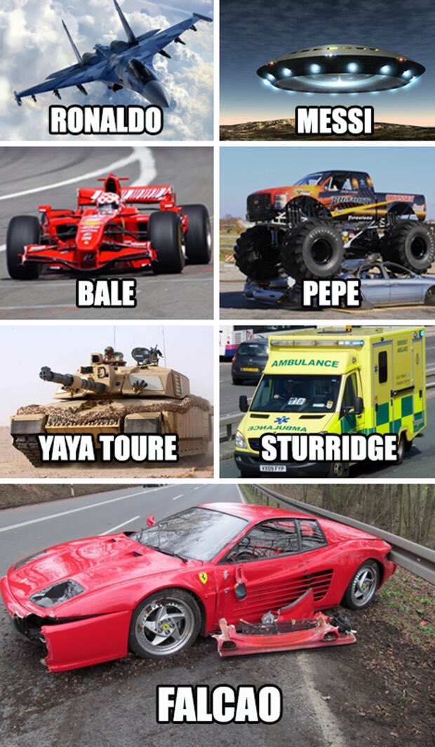 If footballers were vehicles. https://t.co/BtME1xG7rX