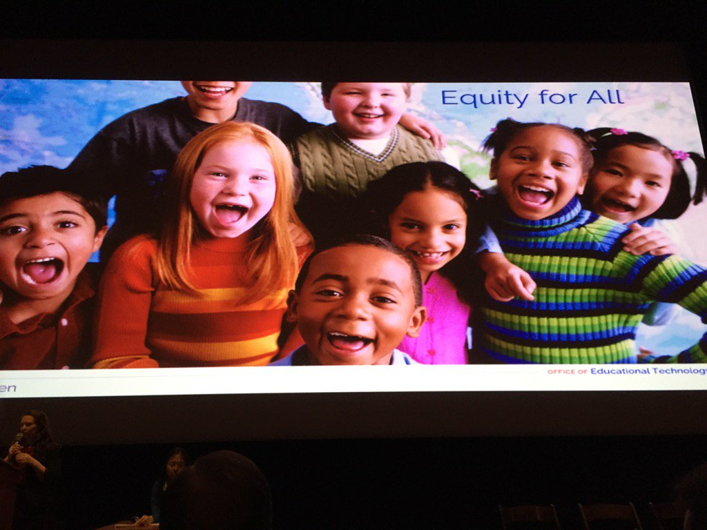 Equity for all is focus of #OpenEd - everyone has access to high quality resources @9cweiss @POTUS https://t.co/zo4vueWcjk