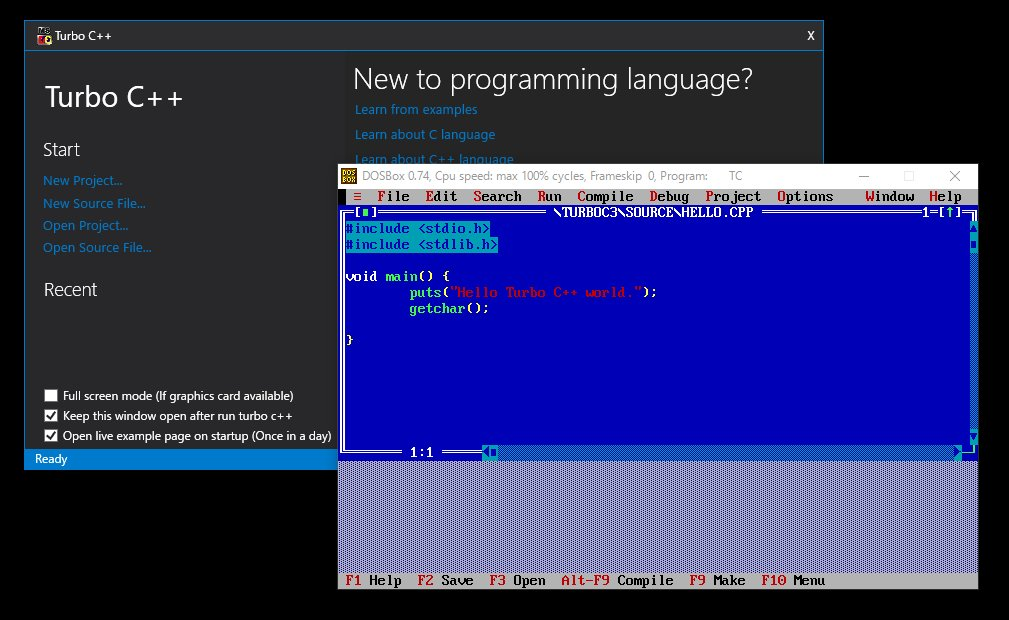 往年の Turbo C++ を触ってみよう | Moonmile Solutions Blog