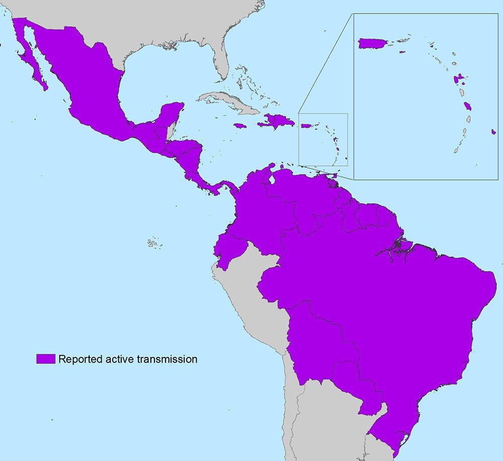 Países en América donde hay transmisión activa del #Zika #microMOOC https://t.co/2QAhsOgJLK https://t.co/Ea6TMBVz8p