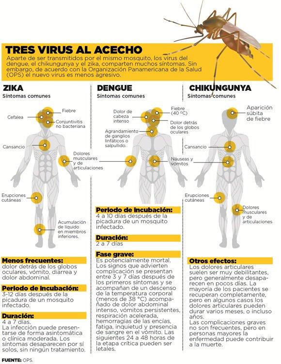 """Síntomas #Zika, dengue y chikungunya muy similares: Zika quizá diagnosticado como """"dengue leve"""" #microMOOC https://t.co/vE0ghpiNOX"""