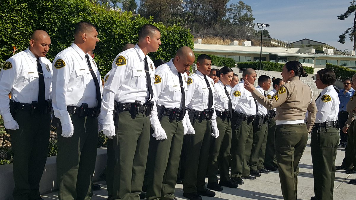 la county sheriffs on twitter happeningsoon lasd security officer class 40 graduation last minute uniform inspection underway