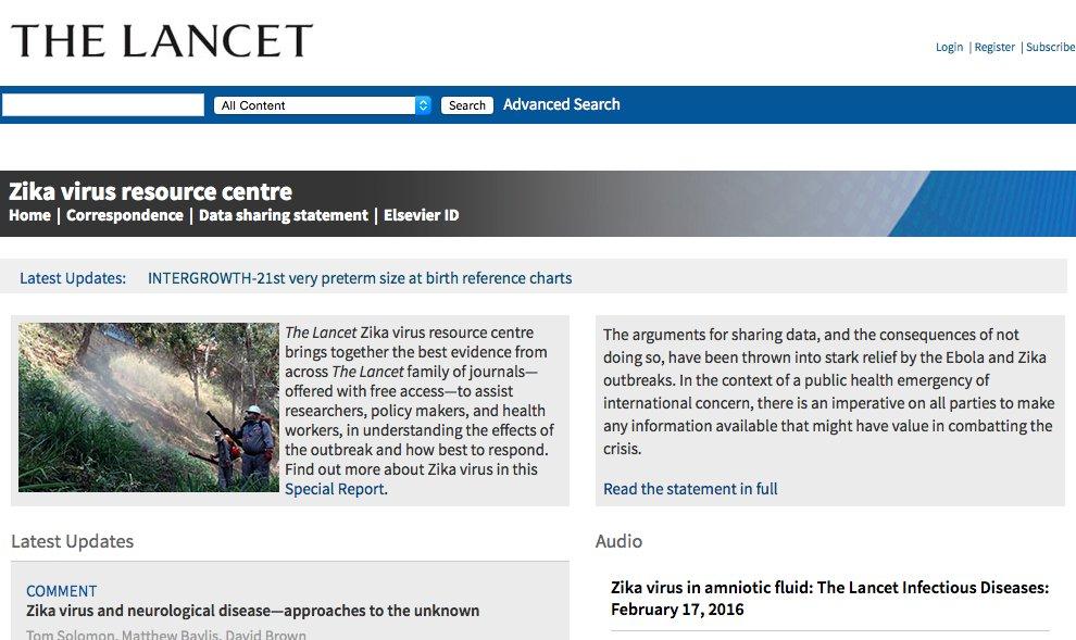 Artículos sobre el #Zika en The Lancet #microMOOC  https://t.co/gB8CaNWspo https://t.co/2ZZuqVrsJL