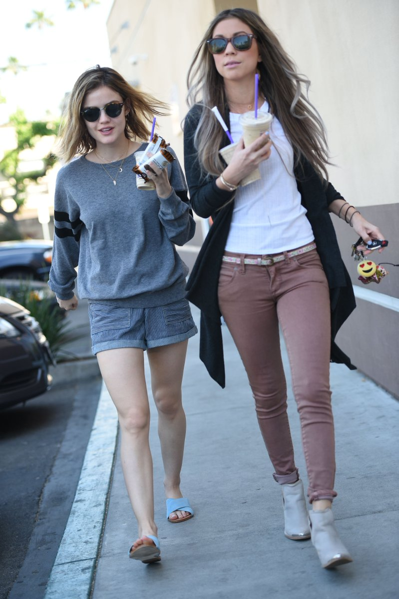 """Lucy Hale Daily on Twitter: """"CANDIDS // February 25 - Out ..."""