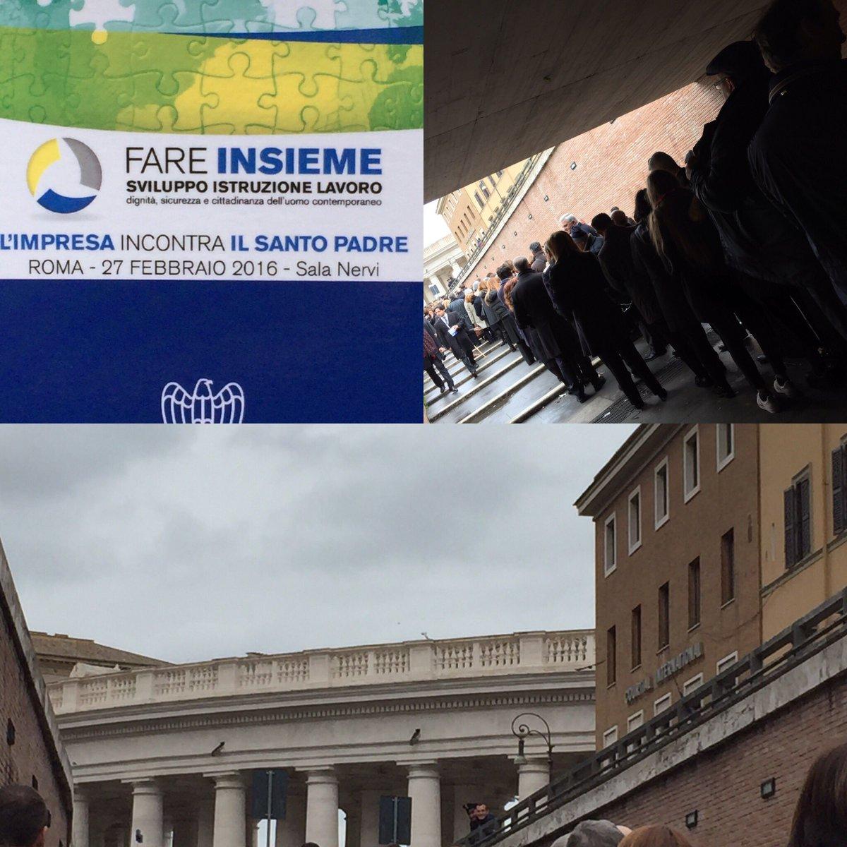 #GiubileoIndustria 7000 imprenditori per #fareinsieme #fareimpresa #Confindustria incontrano Papa Francesco https://t.co/LnWilfEpXt