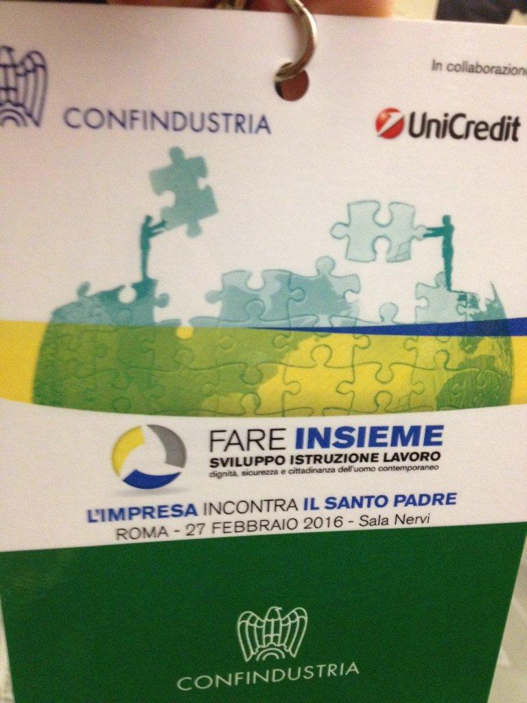 #GiubileoIndustria L'impresa incontra il Santo Padre https://t.co/kFL1t6NRmo