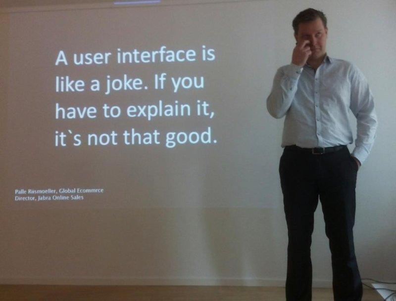 La interfaz es como un chiste. O como una metáfora. O como una infografía. Si hay que explicarla, no sirve. https://t.co/BXyrVEqbY7