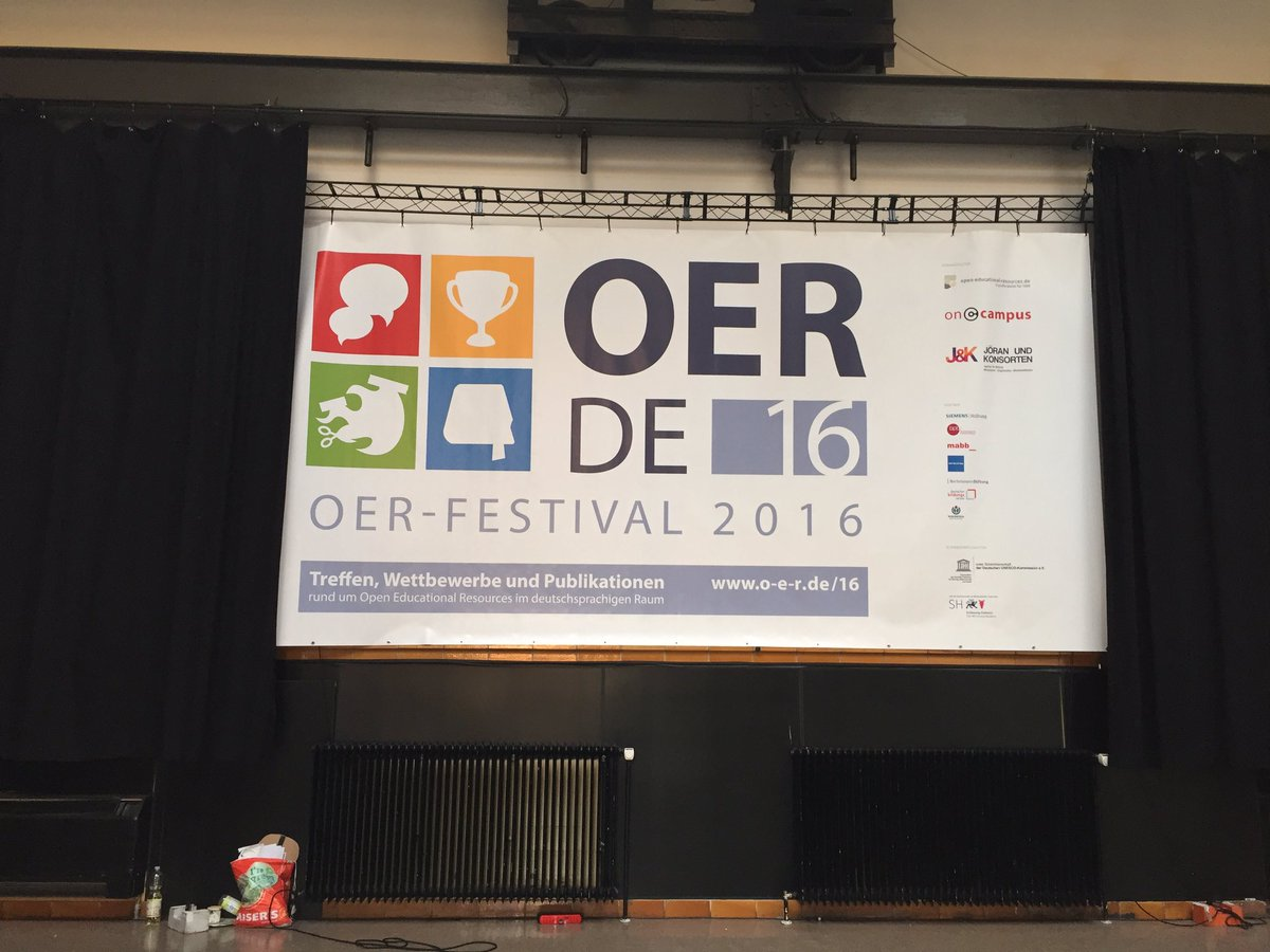 Banner? Hängt. #OERde16  #OERcamp https://t.co/4HbyQbvUsM