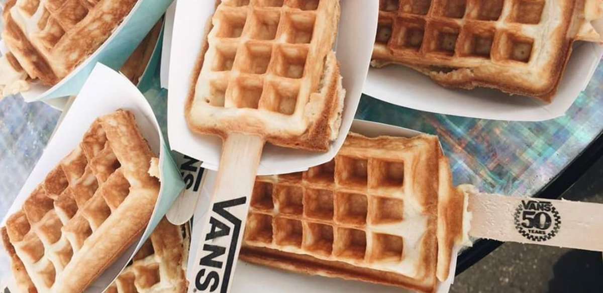 Anybody up for some pre-surf Vans waffle pops?!?! Best breakfast ever! https://t.co/F4rZ0yIl0l