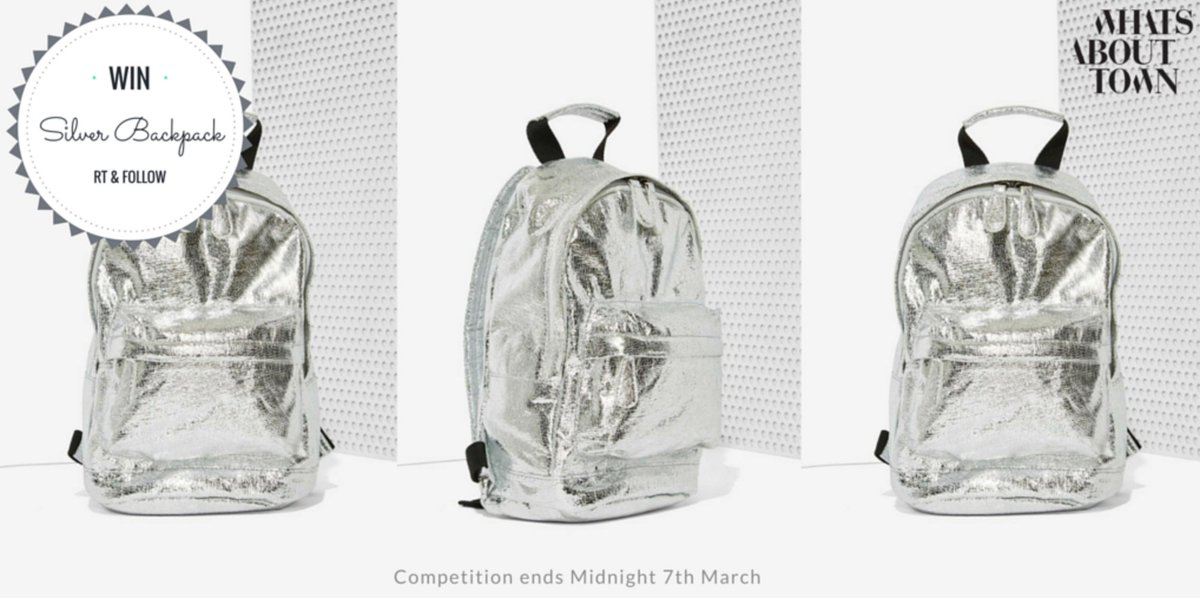Metallics are in! #WIN this Uber cool backpack! RT and Follow. #Goodluck #competition ends Midnight 7th March #win https://t.co/HI3lHgRhAh