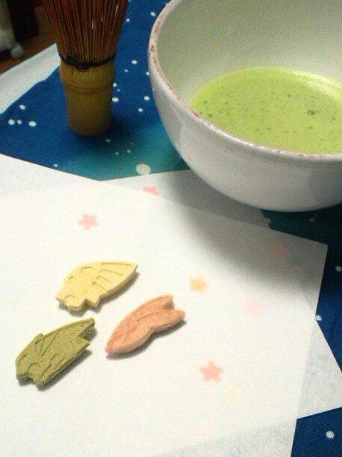 その後型をブラッシュアップして表面の柄の出が良くなったもので和菓子の日タグ祭りに参加したりw #タイバニ文化祭 #タイバニ料理部