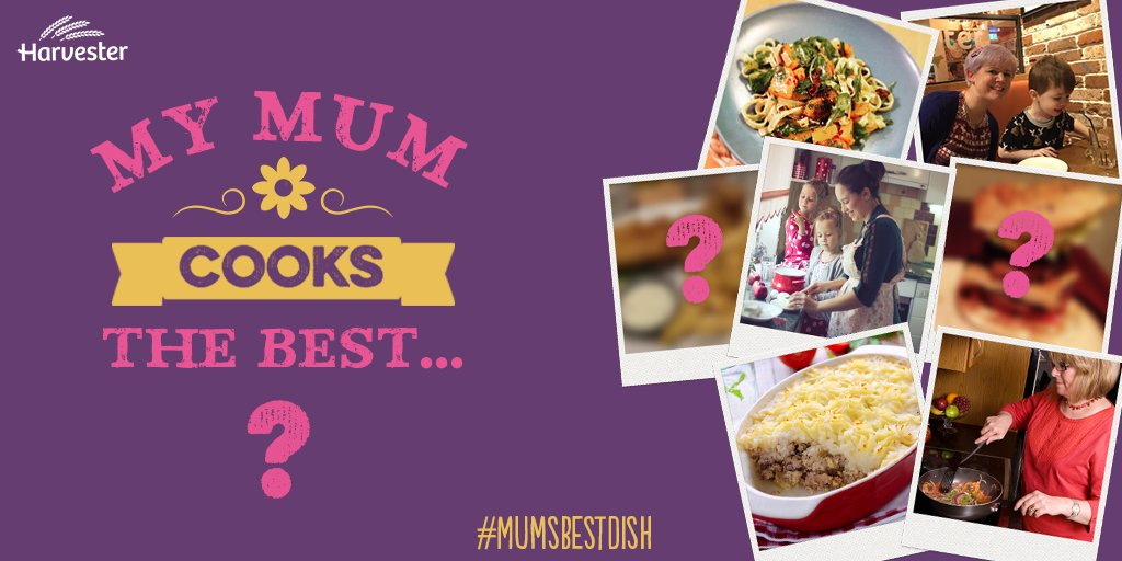 Is your mum an amazing cook? Share #MumsBestDish with us and you could win a £100 gift card & flowers for Mum. https://t.co/j6v3UtMNvd