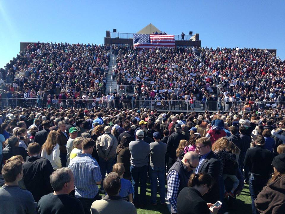 Massive Crowd for @marcorubio in Kennesaw, GA  #TeamMarco #NeverTrump https://t.co/uxwItHOEeH