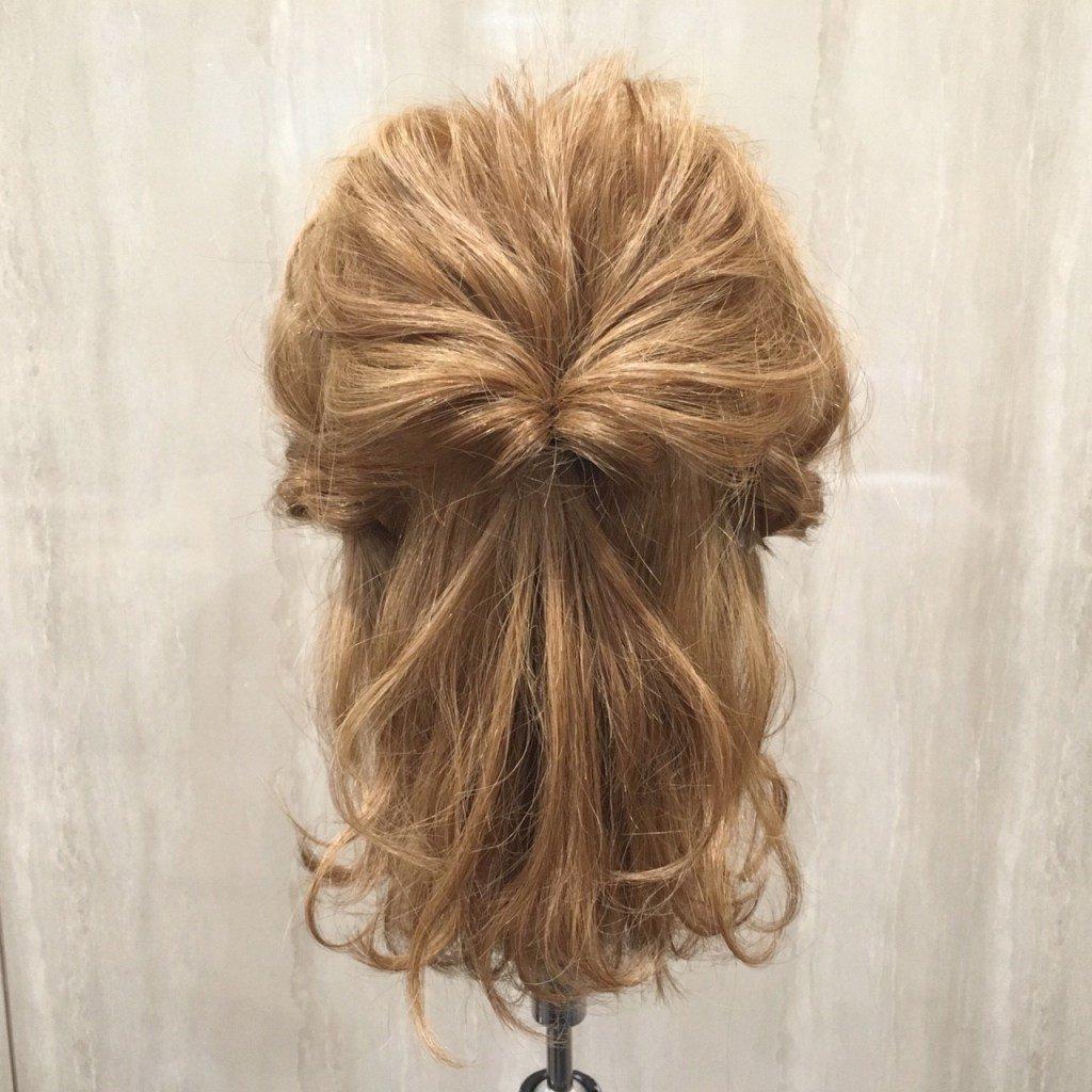 tweet  結婚式のお呼ばれ髪型 アレンジ簡単ミディアム特集