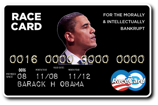 Image result for obamas race card