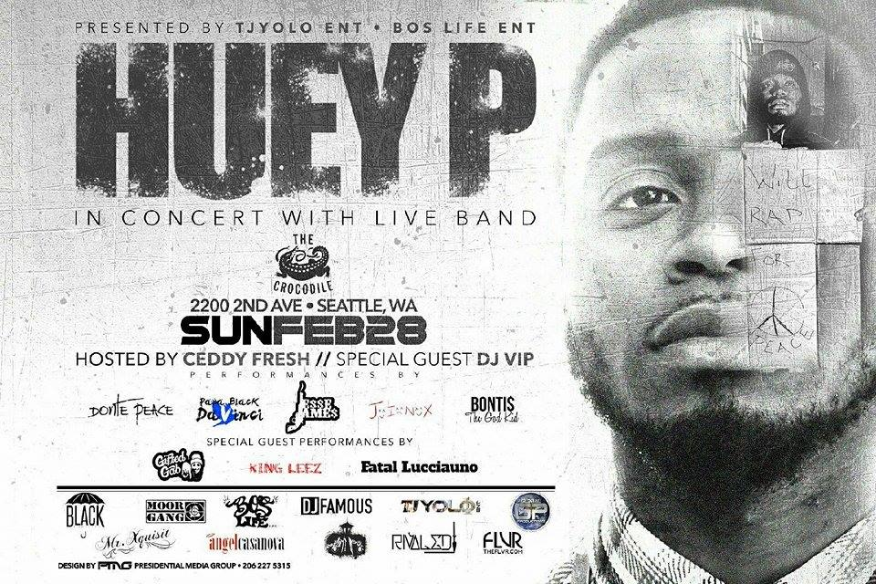 Catch @HueyPMusic x @Gifted_Gab x @DontePeace x @1kingleez and more performing LIVE tomorrow night at @thecrocodile https://t.co/mKcpPKxa27