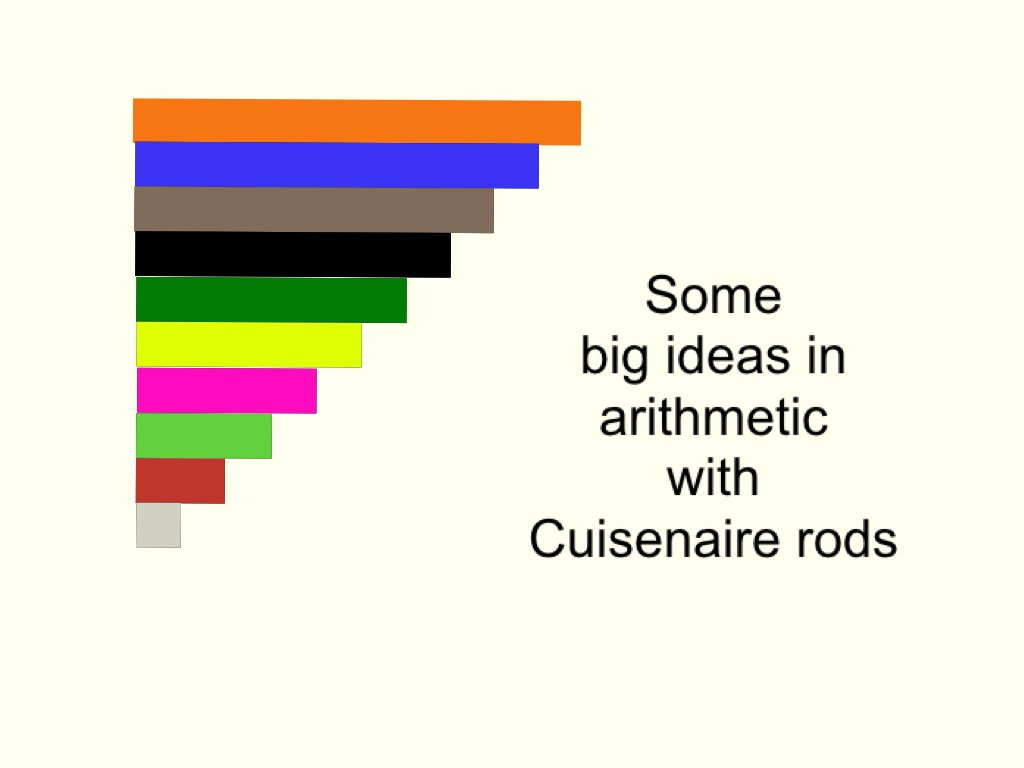 Some big ideas in arithmetic with Cuisenaire rods https://t.co/8AN712nBNb #MTBoS #ElemMathChat https://t.co/qxNwMTReI5