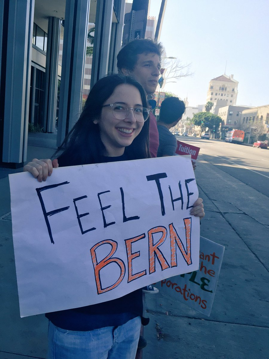 Met a hot guy at a Bernie Sanders demonstration today, thank you Gloria Steinem for the idea! #FeelTheBern https://t.co/vAfkynz2b0