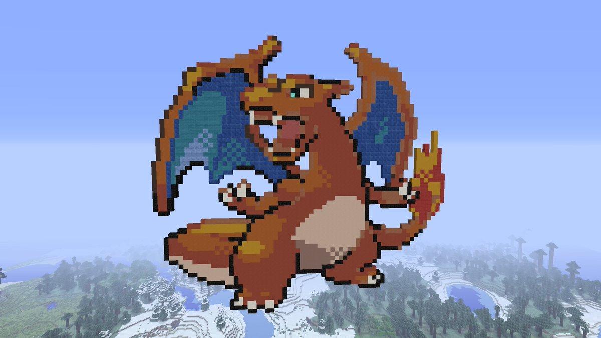 G Mode On On Twitter Charizard Pixel Art In Minecraft For Pokemon20 Https T Co Fejlwnxxyk