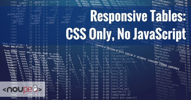 Responsive Tables: CSS Only, No JavaScript | https://t.co/8ExZtJjE8l https://t.co/j145DjtvHN